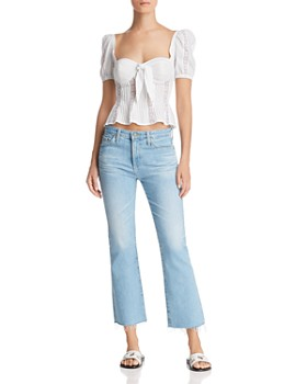 For Love & Lemons - Virginia Lace-Inset Top