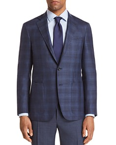 Canali - Kei Tonal Plaid Hopsack Weave Regular Fit Sport Coat