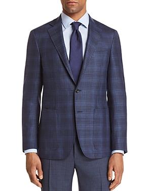 Canali Tonal Plaid Hopsack Weave Classic Fit Sport Coat