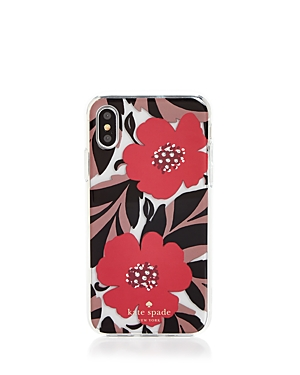 kate spade new york Jeweled Poppy Field iPhone X Case