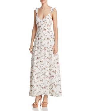 FORE FLORAL MAXI DRESS
