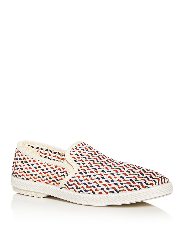 RIVIERAS Men's Napoles-Pablo Open Weave Slip-On Sneakers iV5Hui