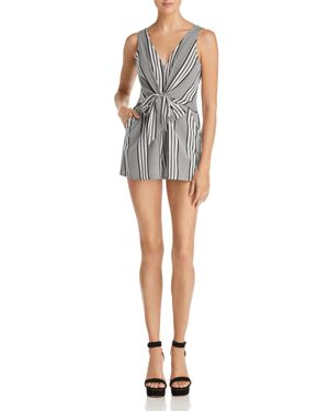 SUNSET & SPRING SLEEVELESS STRIPE ROMPER - 100% EXCLUSIVE