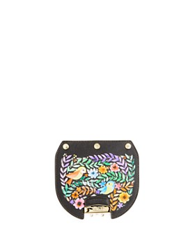 Furla - MY PLAY Interchangeable Metropolis Fiona Laser-Cut Floral Print Leather Flap