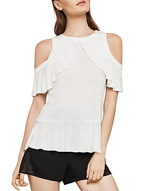 Bcbgmaxazria Ruffled Cold-Shoulder Top