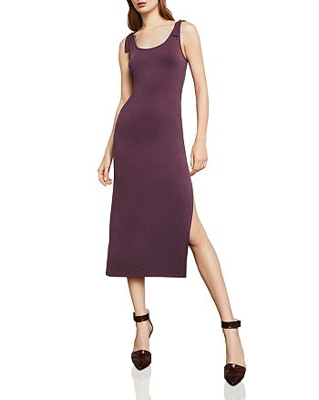 BCBGMAXAZRIA - Tie-Strap Midi Dress