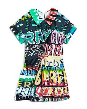 Burberry - Girls' Annabel Graffiti Logo Print Dress - Little Kid, Big Kid