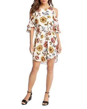 Karen Kane - Cold-Shoulder Floral Dress