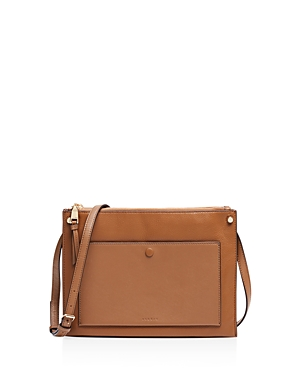 Sandro Bianca Leather Crossbody
