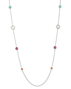 Ippolita Sterling Silver Rock Candy Turquoise Doublet, Mother-Of-Pearl Doublet & African Ruby Lollip
