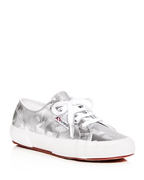 Superga - Women's Star-Embossed Classic Lace Up Sneakers