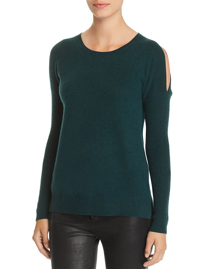 C by Bloomingdale's - Cold-Shoulder Cashmere Sweater - 100% Exclusive