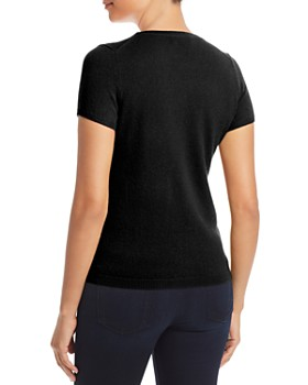 C by Bloomingdale's - Short Sleeve Cashmere Sweater - 100% Exclusive