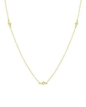 Geometric Stations Necklace in 18K Gold-Plated Sterling Silver