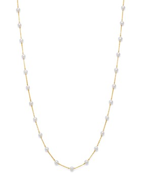 "Bloomingdale's - Cultured Freshwater Pearl Long Station Necklace in 14K Yellow Gold, 31"" - 100% Exclusive"