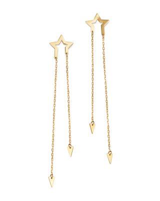 Moon Chain Drop Earrings