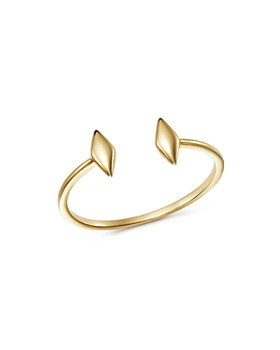 Moon & Meadow - Open Double Diamond-Shape Ring in 14K Yellow Gold - 100% Exclusive