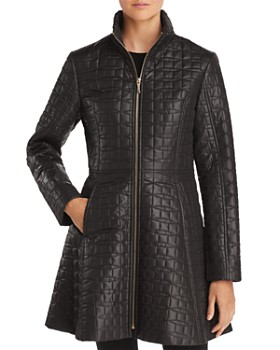 kate spade new york - A-Line Bow-Quilted Coat