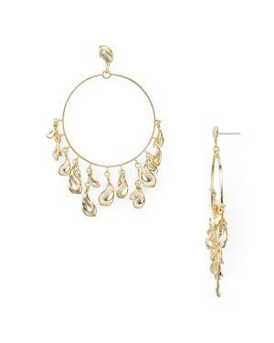 Natasha Droplets Loop Drop Earrings in Gold Metal