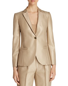 Emporio Armani - Metallic Single-Button Blazer