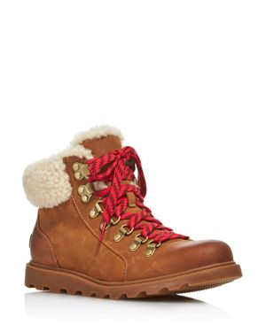 Sorel Women's Ainsley Round Toe Leather Hiking Boots 3013680