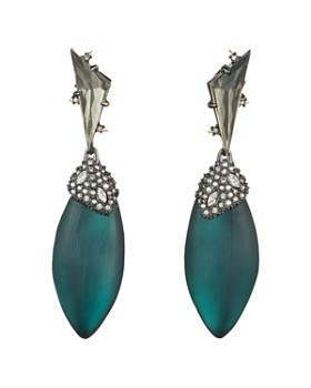 Alexis Bittar - Crystal Cluster Ovoid Drop Earrings
