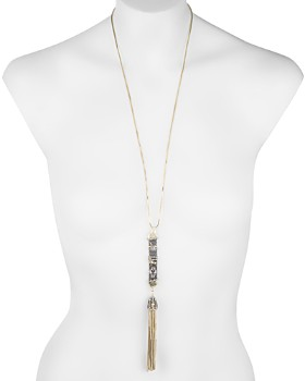 Alexis Bittar - Chain Tassel Pendant Necklace, 28""