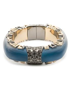 Alexis Bittar - Geometric Pavé Lucite Hinge Bracelet