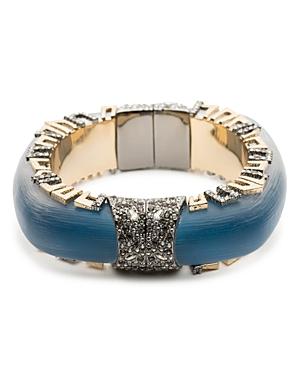 Alexis Bittar Geometric Pave Lucite Hinge Bracelet