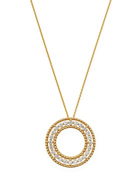 Bloomingdale's - Diamond Beaded Circle Pendant Necklace in 14K Yellow Gold, 0.25 ct. t.w. - 100% Exclusive