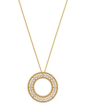Bloomingdale's Diamond Beaded Circle Pendant Necklace in 14K Yellow Gold, 0.25 ct. t.w. - 100% Exclu