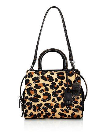 COACH - 1941 Rogue Leopard Print Calf Hair Shoulder Bag
