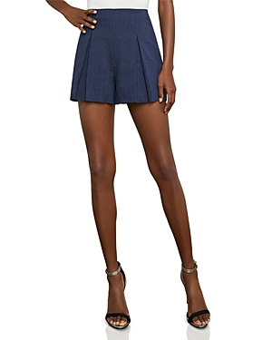 Bcbgmaxazria Pinstripe Pleated Shorts