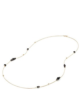 David Yurman - Rio Rondelle Long Station Necklace with Black Onyx in 18K Gold