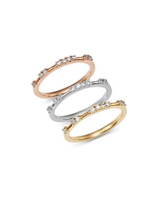 Bloomingdale's Diamond Dotted Stacking Ring in 14K Gold, 0.15 ct. t.w. - 100% Exclusive _0