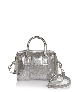 Halston Heritage Jerry Mini Metallic Leather Satchel
