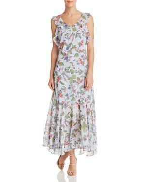nanette Nanette Lepore Sleeveless Ruffle-Trim Floral-Print Maxi Dress 3005857