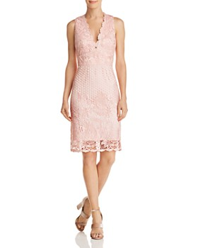 Laundry by Shelli Segal - Sleeveless V-Neck Lace Dress - 100% Exclusive