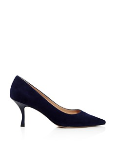Stuart Weitzman - Women's Tippi 70 Pointed Toe Kitten Heel Pumps