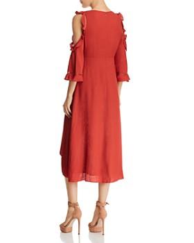 AQUA - Cold-Shoulder Faux-Wrap High/Low Dress - 100% Exclusive