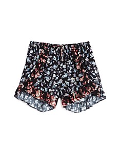 AQUA Girls' Ruffled Floral Shorts, Big Kid - 100% Exclusive - Bloomingdale's_0