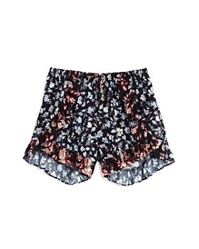 AQUA - Girls' Ruffled Floral Shorts, Big Kid - 100% Exclusive