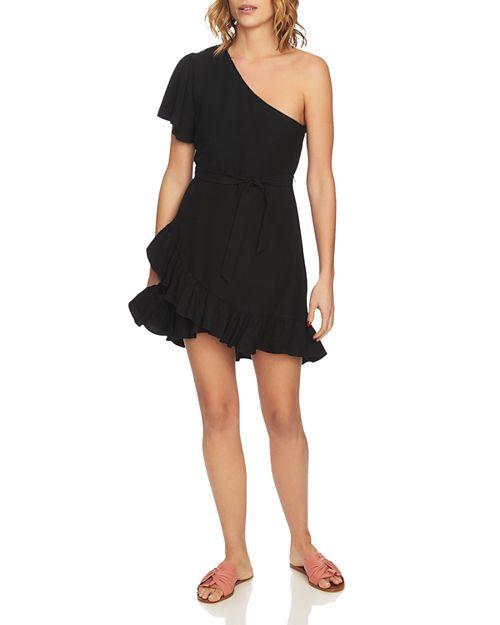 1.STATE - One-Shoulder Ruffled Dress