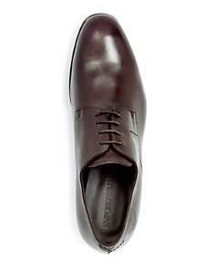 Armani - Men's Leather Plain Toe Oxfords