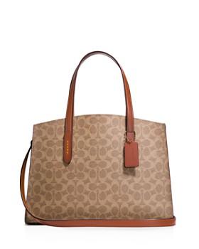 COACH - Signature Charlie Coated Canvas Shoulder Bag ... a44b817204362