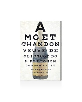Oliver Gal - Champagne Eye Chart Canvas Art