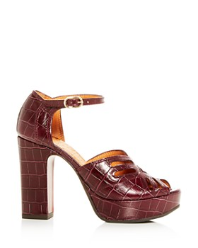 Chie Mihara - Women's Kenya Croc-Embossed Leather High-Heel Platform Sandals