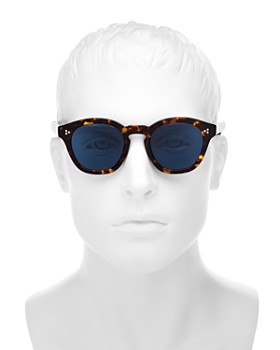 Oliver Peoples - Men's Boudreau L.A. Round Sunglasses, 48mm