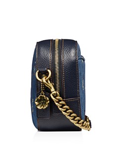 COACH - Quilted Denim Floral Bow Print Crossbody Camera Bag