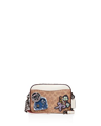 COACH - Patch & Border Rivet Coated Canvas Crossbody Bag